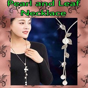 Gorgeous Pearl and Leaf Necklace